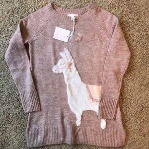 NWT Lauren Conrad llama sweater